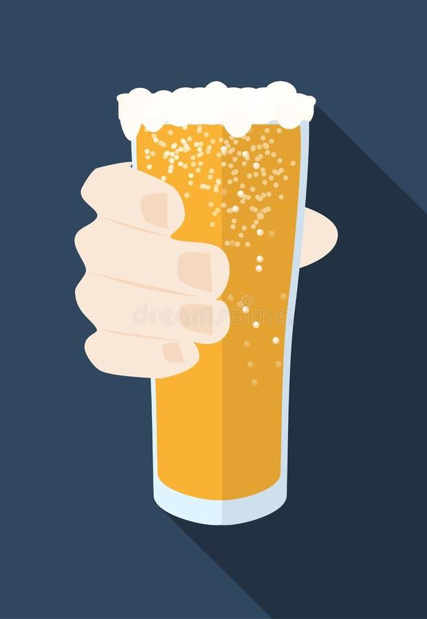 有泡沫传染媒介象的啤酒杯能使用当慕尼黑啤酒节标志 免版税库存图片