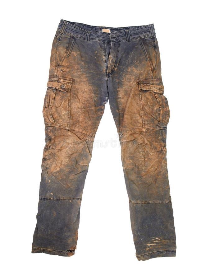 有泥的长裤 免版税库存图片