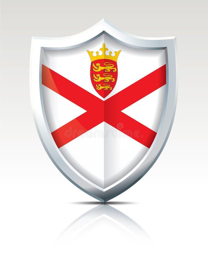有泽西的旗子的盾 皇族释放例证