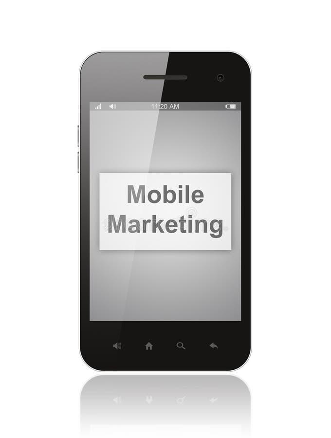 有流动营销按钮的巧妙的电话 向量例证