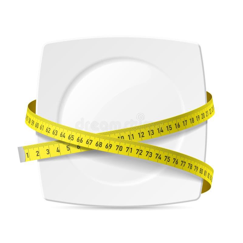 有测量的磁带的板材 向量例证