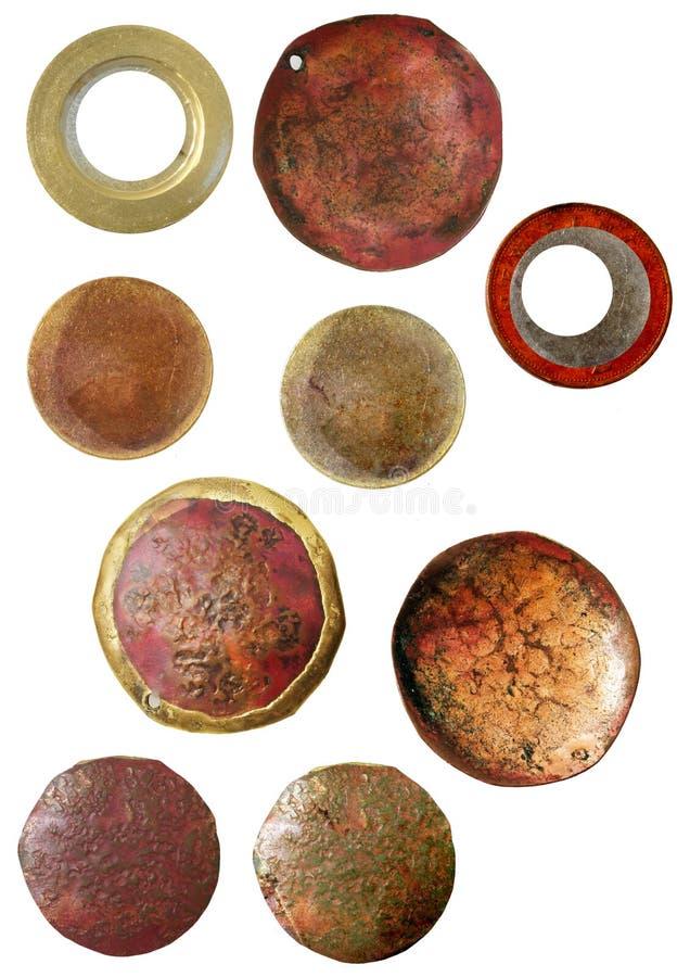 有浮雕的贝壳发现grunge 库存图片