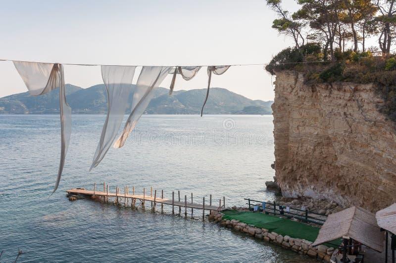 有浮雕的贝壳海岛, Zakynhtos,希腊 免版税图库摄影