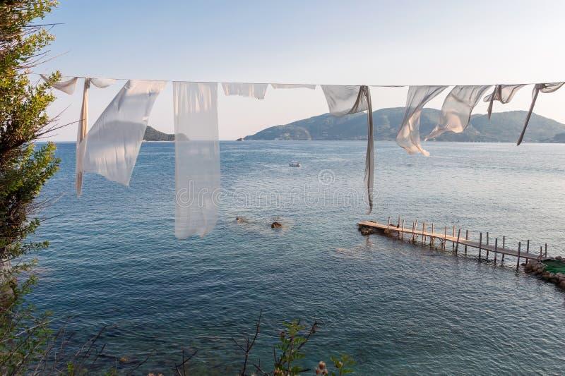 有浮雕的贝壳海岛, Zakynhtos,希腊 库存图片