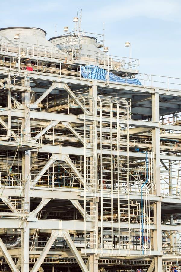 有液化天然气的精炼厂工厂 库存图片