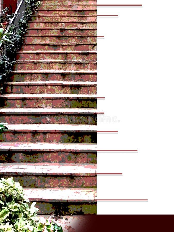 有深红楼梯台阶的Ebook盖子 免版税库存照片