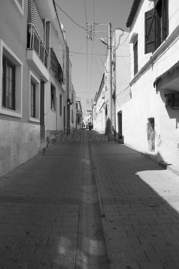 有深刻的透视的街道 图库摄影