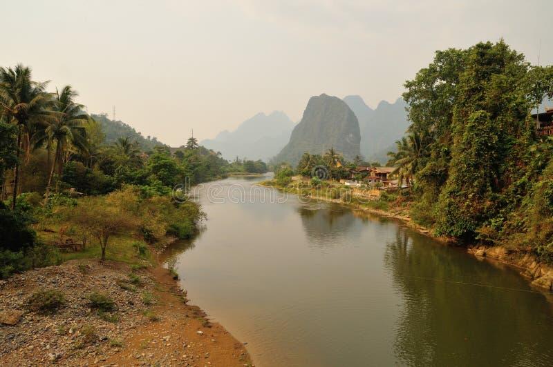 有湄公河的岩溶的断层块 库存图片