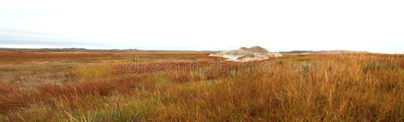 有灰小山全景的南达科他大草原 库存照片