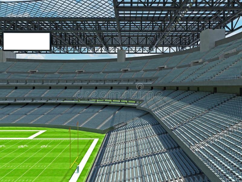 有灰色位子的现代橄榄球体育场 皇族释放例证