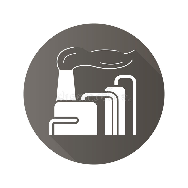 有烟平的设计长的阴影象的工厂 向量例证