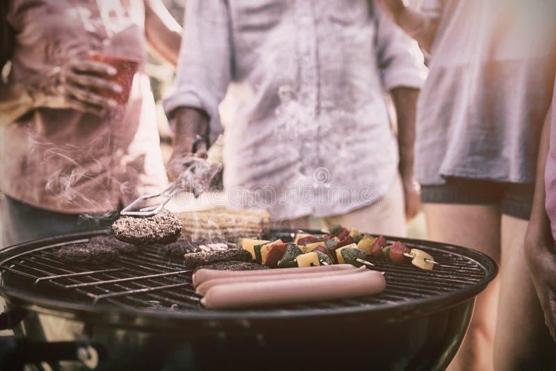 有烤肉的系列 免版税图库摄影