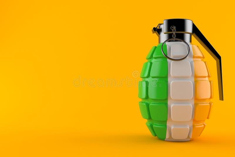 有爱尔兰旗子的手榴弹 库存例证