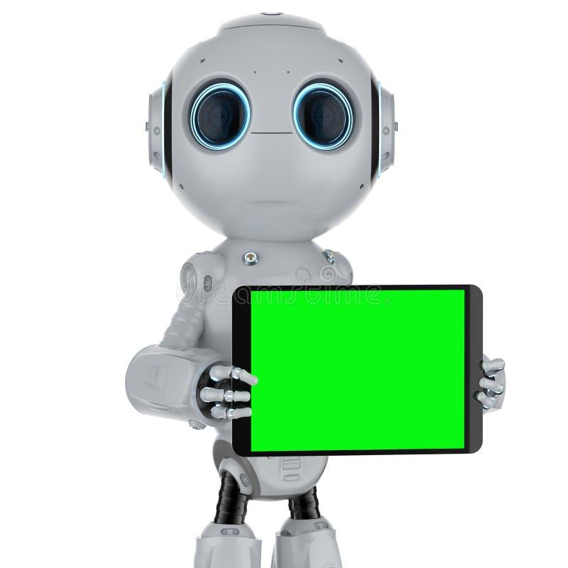 有片剂的机器人 向量例证