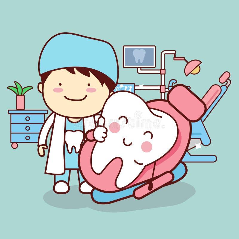 有牙的动画片牙科医生 皇族释放例证