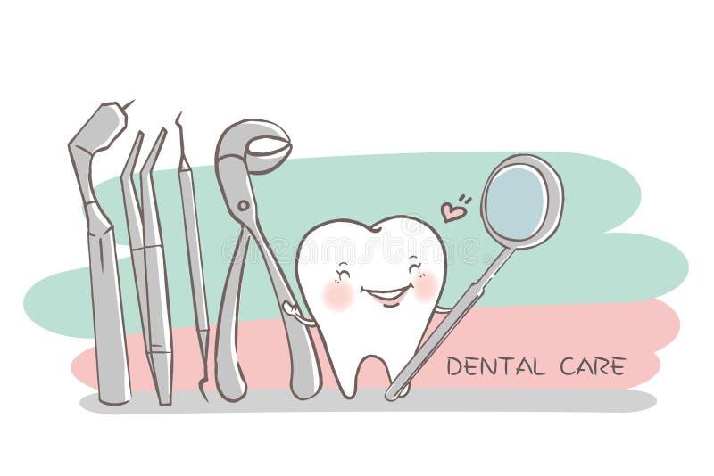 有牙齿保护概念的牙 皇族释放例证