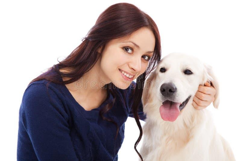 Download 有狗的美丽的少妇 库存图片. 图片 包括有 白种人, 交配动物者, 快乐, 愉快, 哺乳动物, 家谱, 朋友 - 30335937