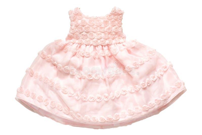 有玫瑰的小公主礼服 库存照片