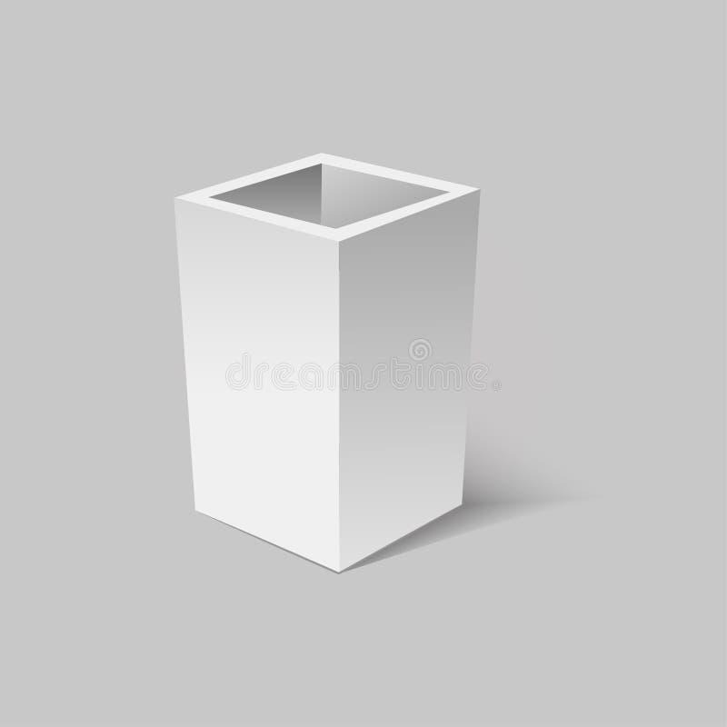 有现实阴影的灰色开放箱子 也corel凹道例证向量 向量例证
