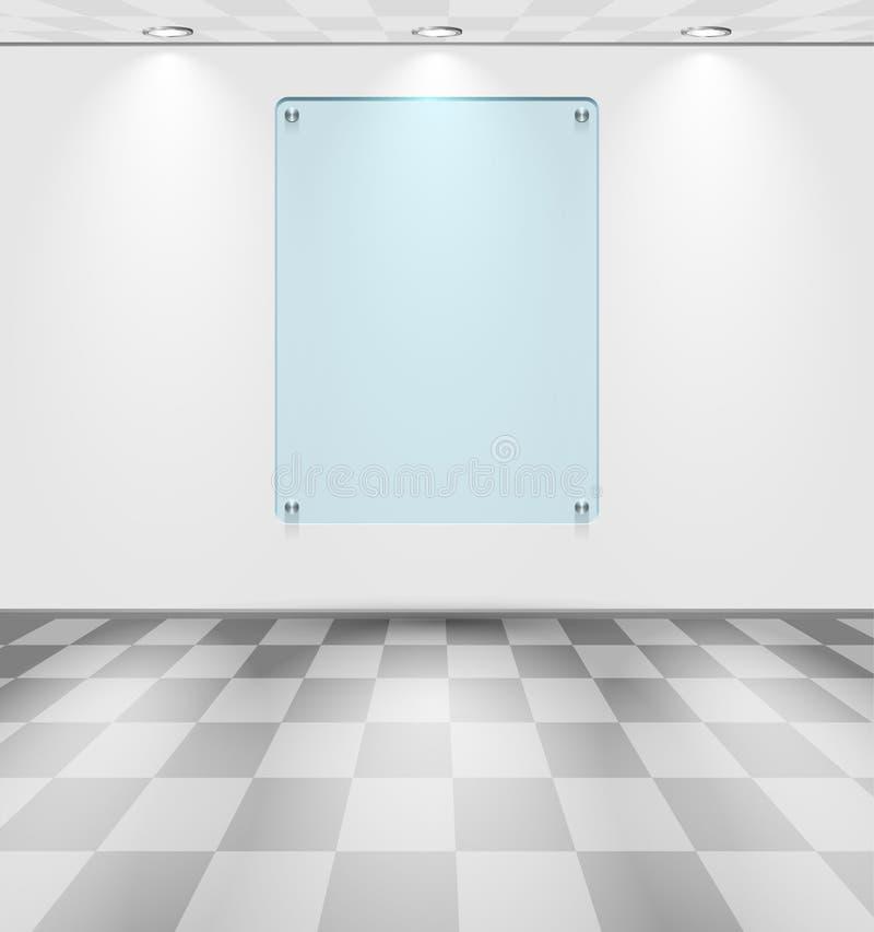 有玻璃占位符的空间 皇族释放例证