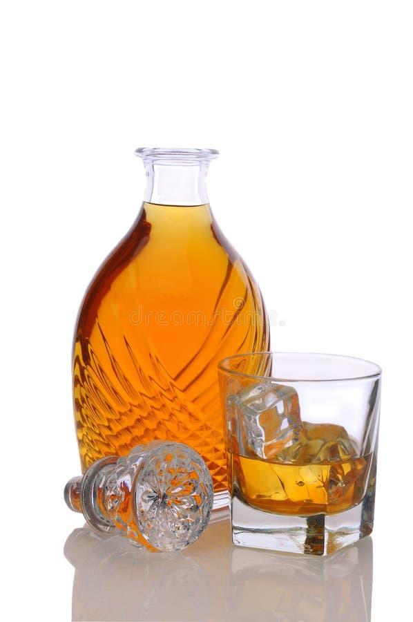 有玻璃的蒸馏瓶刻痕 库存照片