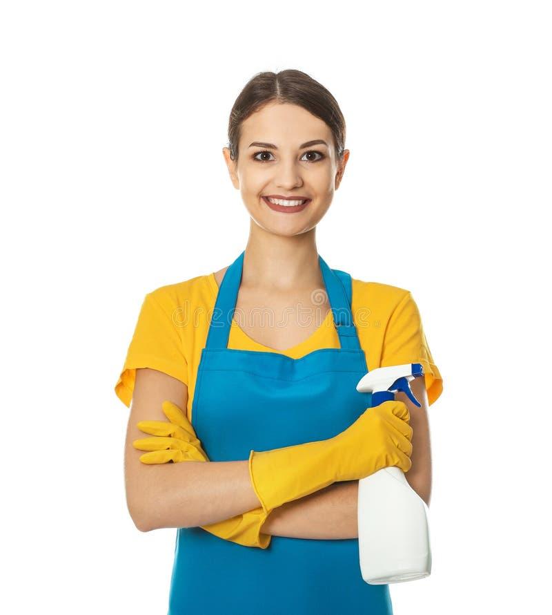 有瓶的妇女洗涤剂 图库摄影