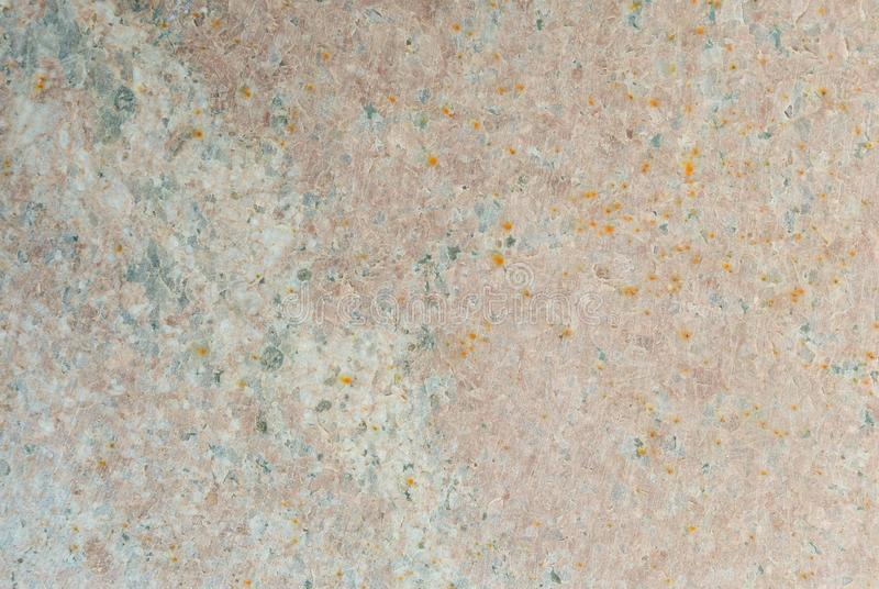 有生锈的污点的优美的自然石花岗岩瓦片 库存图片