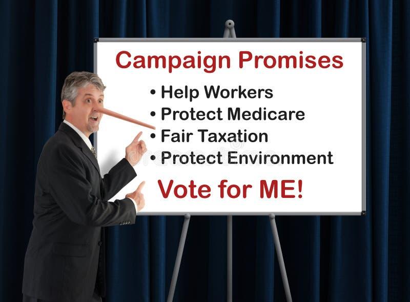 有生长的木偶奇遇记鼻子说谎的不诚实的政客 免版税库存图片