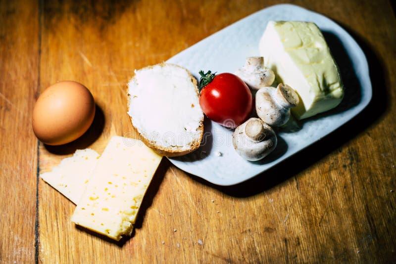 有用的早餐产品 免版税库存图片