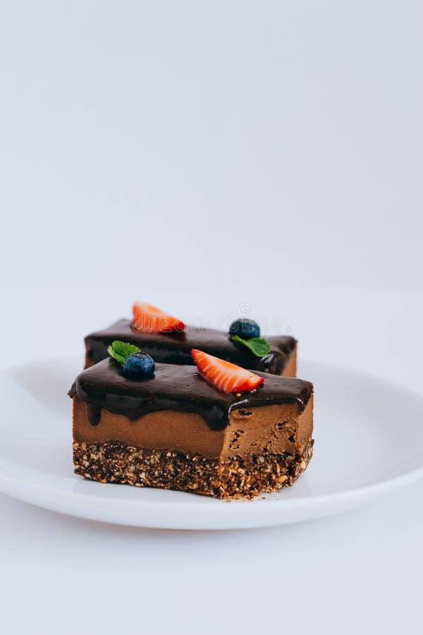有用的未加工的巧克力点心 库存照片