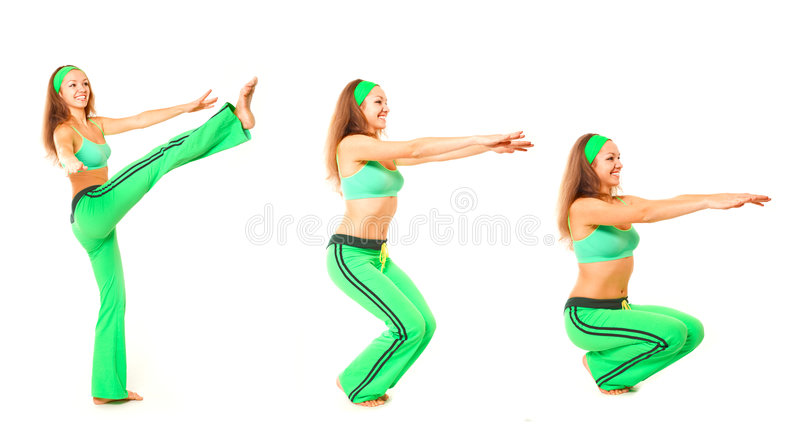 有用cyka的健身 免版税库存照片