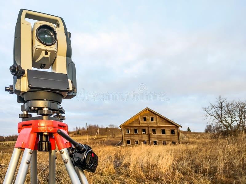 有电台的仪器测地学仪器设备领域的 库存图片