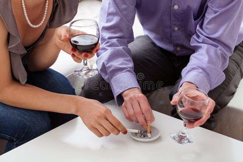 有瘾的人们 免版税库存照片