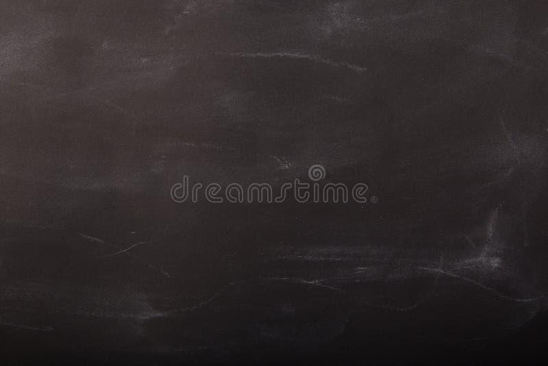 有白垩尘土的空的黑板 免版税库存图片