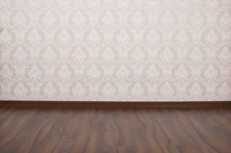 有白墙壁和flor的空的空间 库存照片