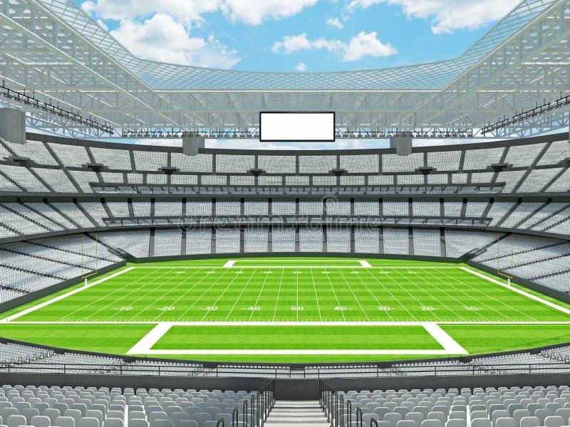 有白色位子的现代橄榄球体育场 皇族释放例证