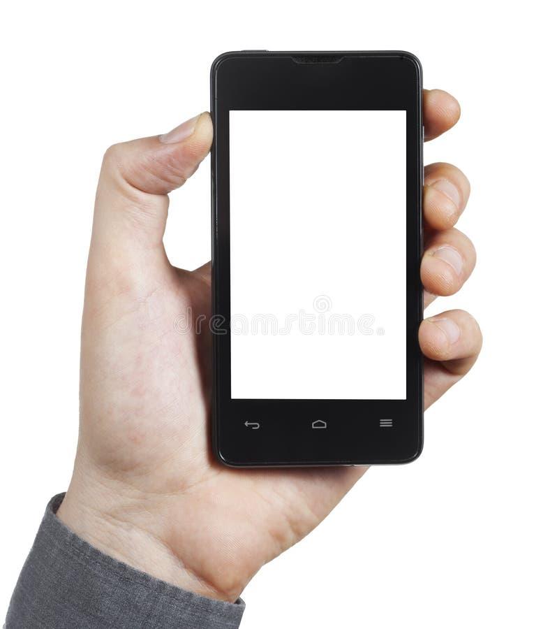 有白色屏幕的智能手机 免版税图库摄影