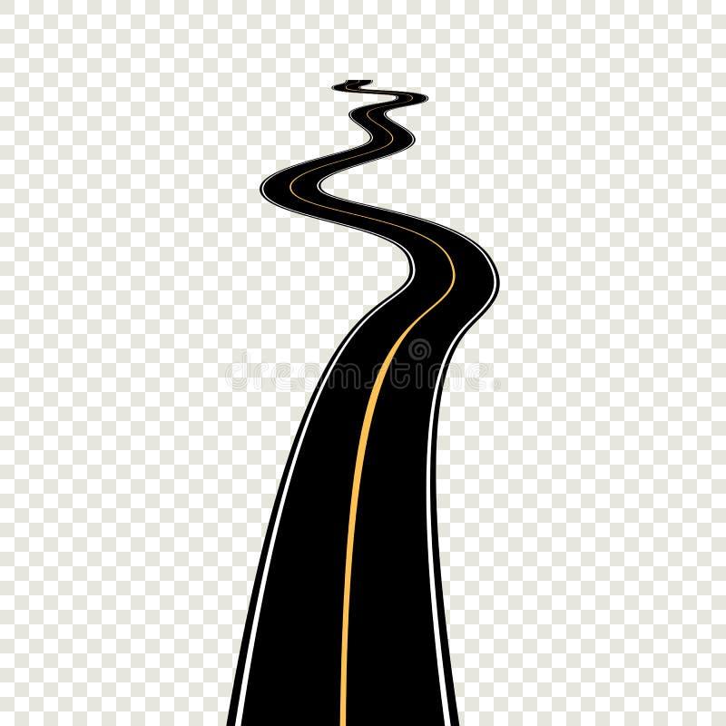 有白色标号的弯曲的弯曲道路 传染媒介例证EPS 皇族释放例证