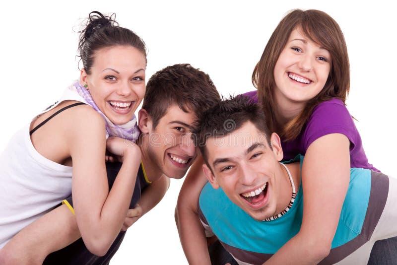 有的乐趣peole年轻人 免版税库存照片