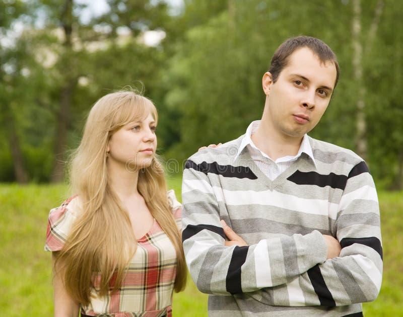 有的夫妇争吵 库存照片