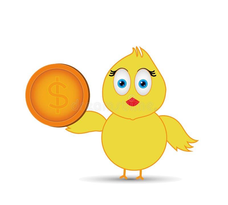 有的小鸡美元 皇族释放例证