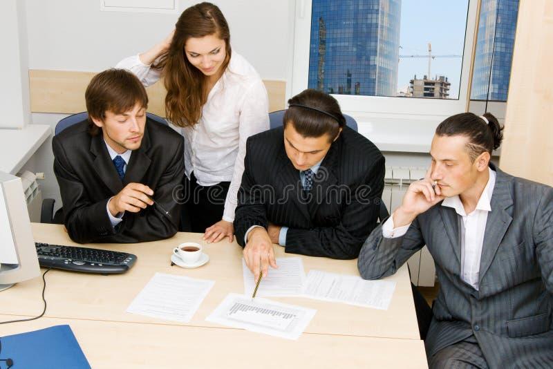 有的论述办公室工作者 库存图片