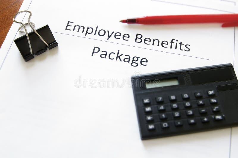 有益于雇员程序包 免版税库存图片