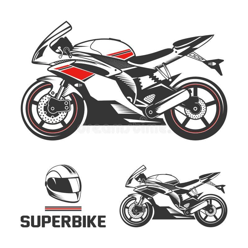 有盔甲的体育摩托车 库存照片