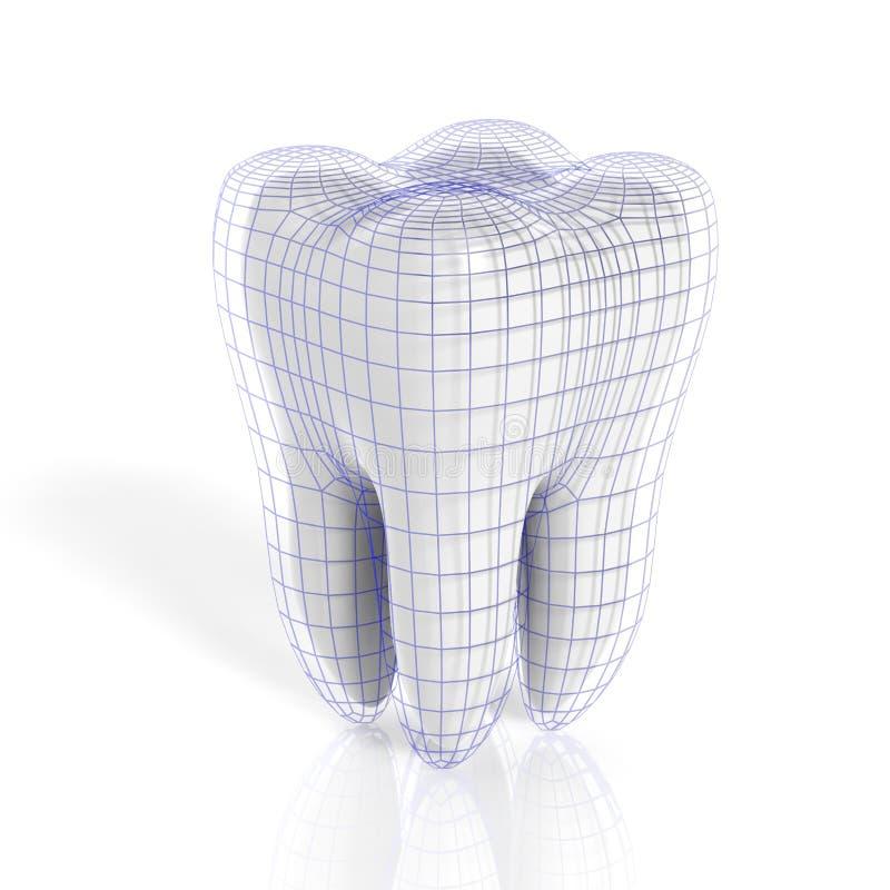 有真正栅格的牙 向量例证