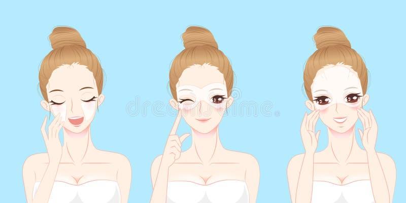 有眼罩的妇女 皇族释放例证