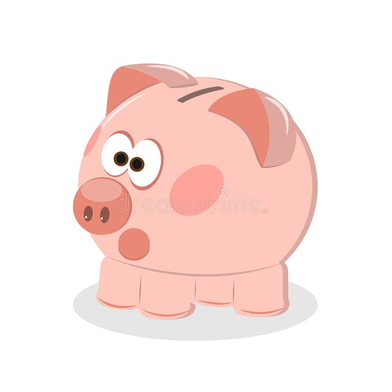 有硬币传染媒介例证的存钱罐 象节省或货币积累,投资 一个平的样式的象存钱罐, 向量例证