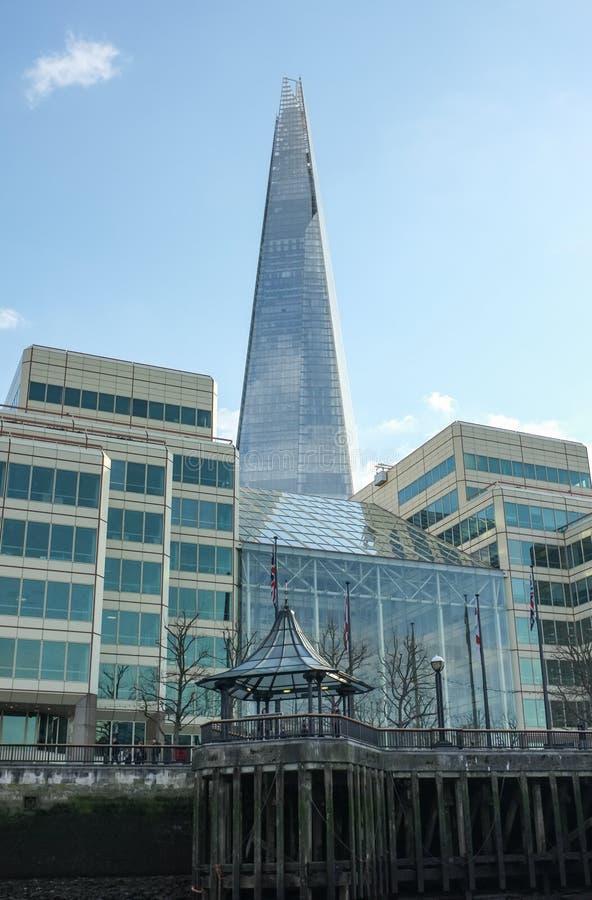 有碎片的伦敦Southbank 免版税库存照片