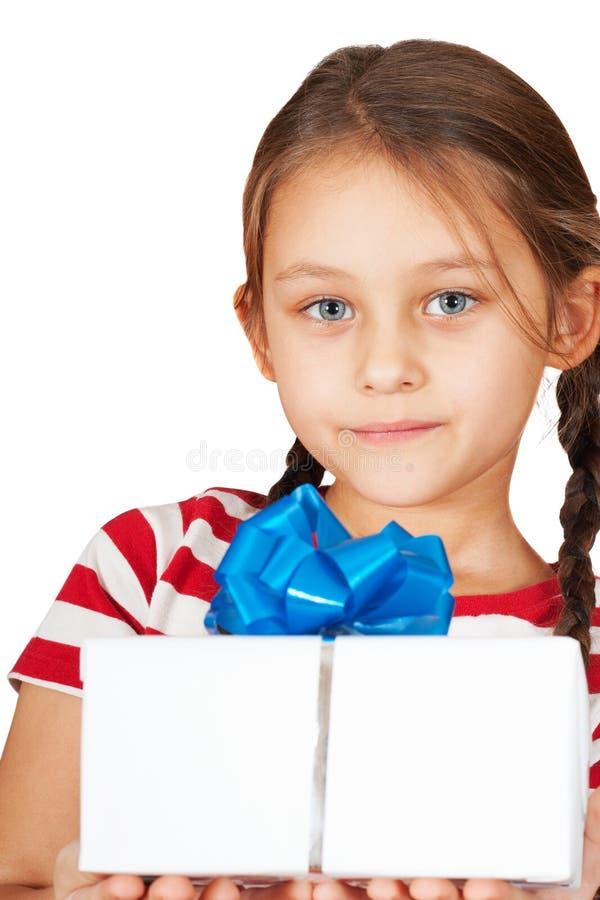 有礼品的女孩 库存图片