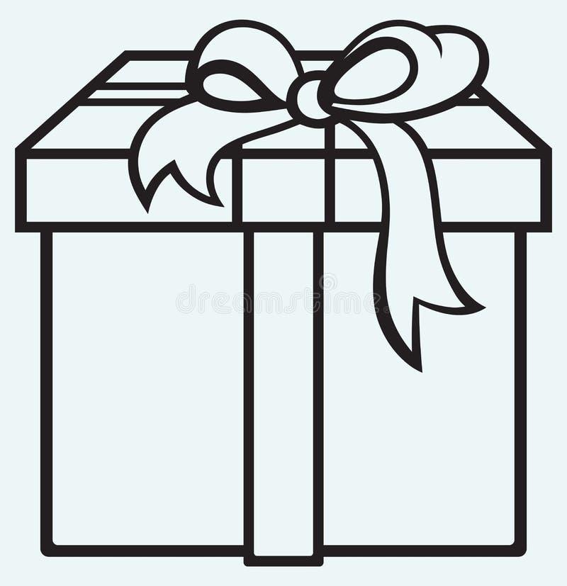有礼物的箱子 库存例证